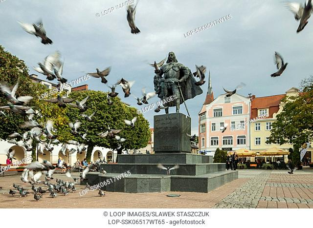 Jakub Wejher statue on the market square