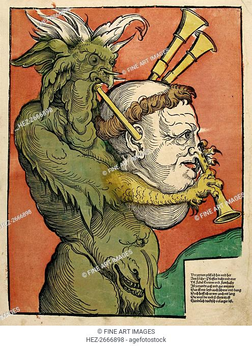 Luther as the Devil's Bagpipes, c.1535
