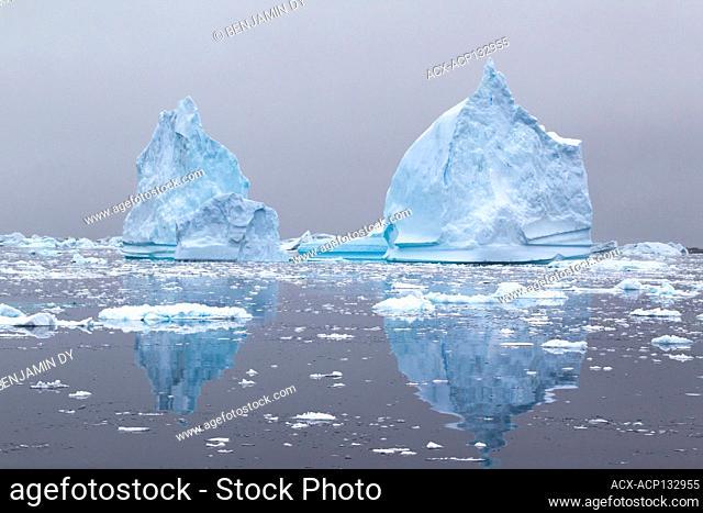 Iceberg, Antarctic peninsula, Antarctica, Summer