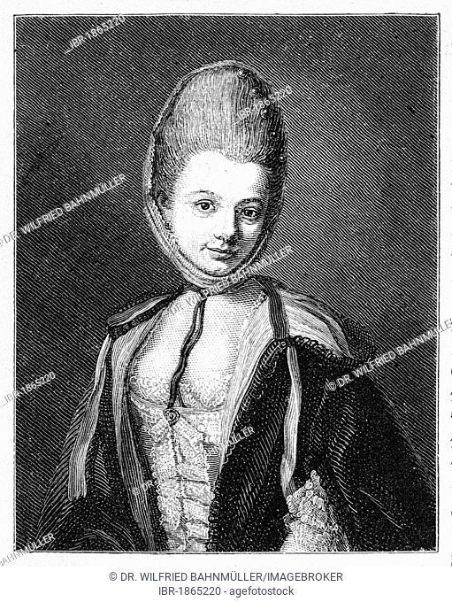 Dorette Buerger, wife of Gottfried August Buerger (+1784)