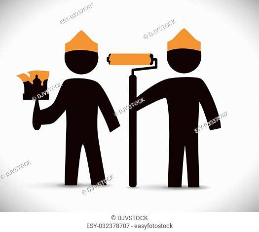 Under construction digital design, vector illustration 10 eps graphic