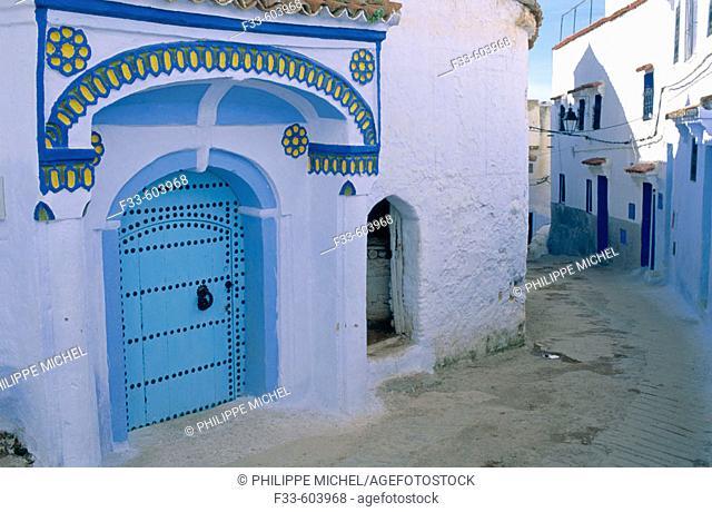 Chefchaouen (Chaouen) town. Rif area. Morocco