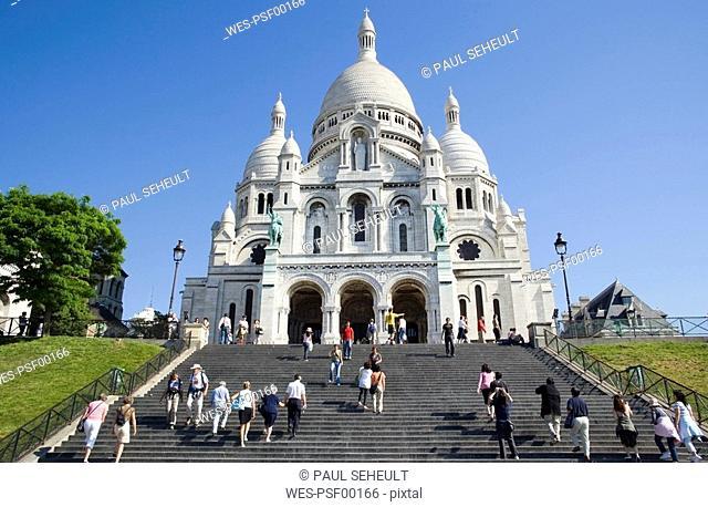 France, Paris, Sacre Coeur, Montmartre