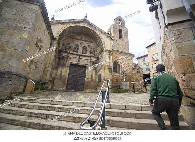 Poza de la Sal is an ancient village in Burgos province, Castile and Leon, Spain. St Cosme and Damian church