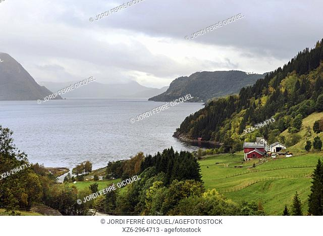 Storfjorden, in Orskog Municipality in Møre og Romsdal county, Norway, Europe