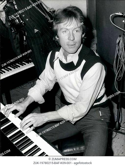 Feb. 15, 1978 - February 15th 1978 Roddy Llewellyn turns to pop ?¢'Ǩ'Äú Roddy Llewellyn, 30, Princess Margaret?¢'Ǩ'Ñ¢s boyfriend