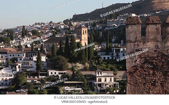 Alhambra and Albaicin quarter, Granada. Andalusia, Spain
