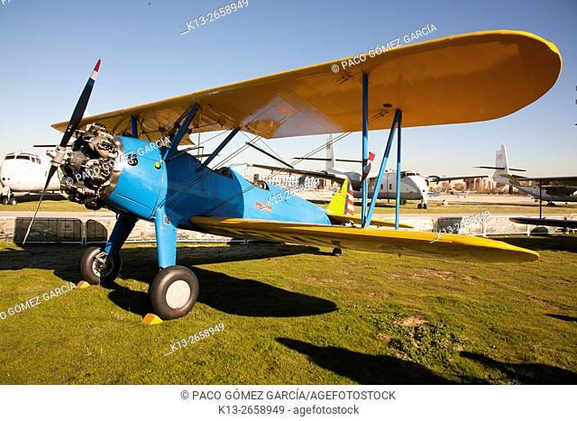 Boeing Stearman Kaydet. Air show in Cuatro Vientos, Madrid. Spain