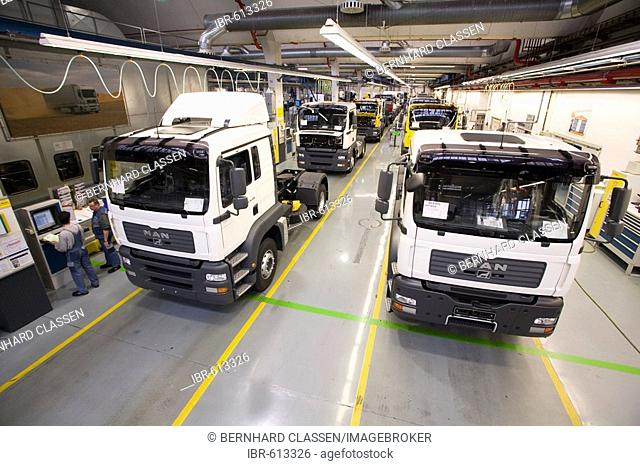 MAN AG: production of lorries, final quality control, BAVARIA, MUNICH, GERMANY