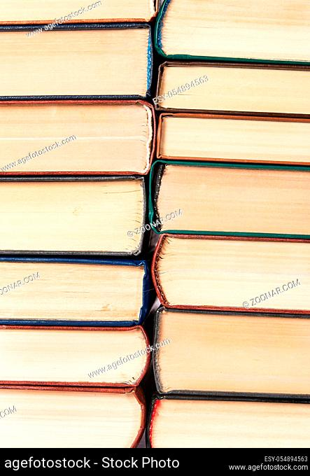 Abstract background of two stacks of old books