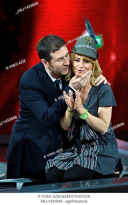 08 05 2011, Milan, 'Che tempo che fa' RAI 3 telecast  Luciana Littizzetto and Fabio Fazio