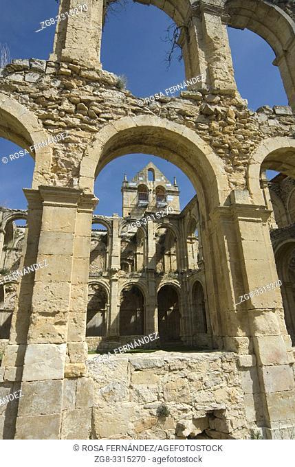 Cistercian Monastery of Santa Maria de Rioseco, XIII Century, Villarcayo, Valle de Manzanedo, Las Merindades, province of Burgos, Castilla y Leon, Spain