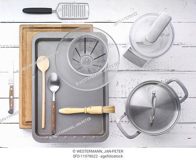 Kitchen utensils for making polenta and vegetables