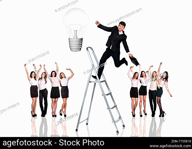 people business team on the white background