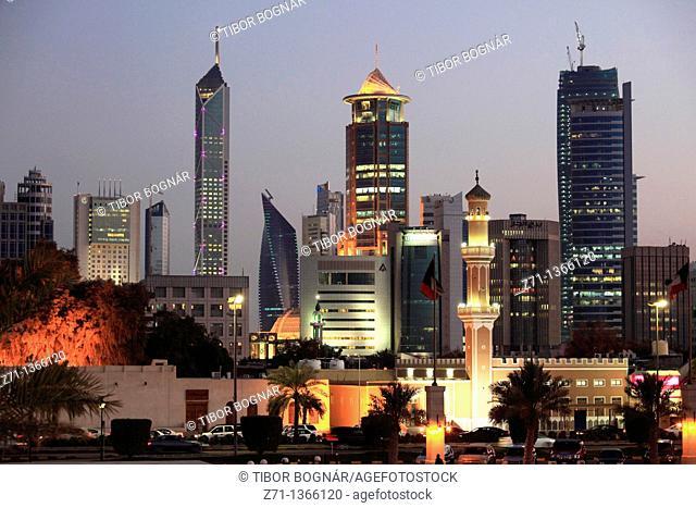 Kuwait, Kuwait City, skyline, skyscrapers