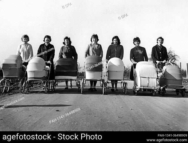On 1 March 1961 seven young mothers take their prams for a spring walk on a paved road. Which car driver would have the audacity to fight his way through by...