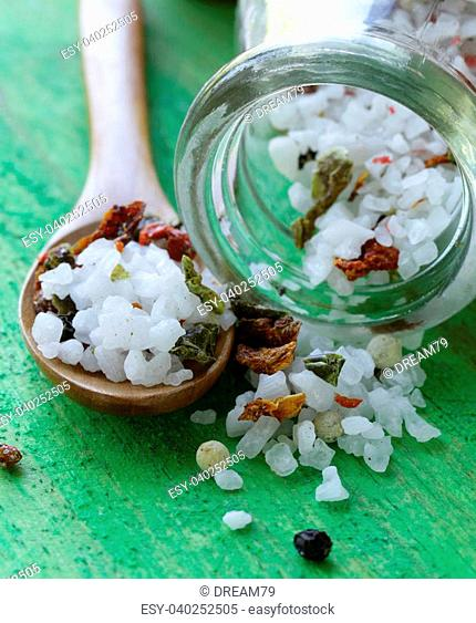 aromatic salt with spices and herbs