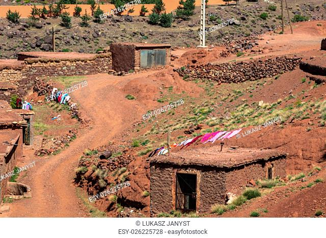 berber village in the atlas mountains,morocco