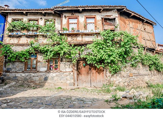 View of historical house at Cumalikizik village,a popular destination for Tourists and locals in Bursa,Turkey. 20 May 2018