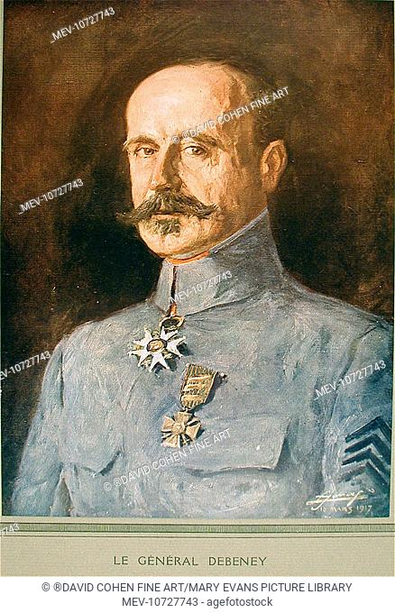 General Debeney, dated 16th March 1917. Lucien Hector Jonas (1880-1947).  In February Of 1915, Jonas Was Offically Accredited As 'Military Painter To The MusÚe...