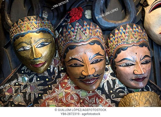 Traditional Javanese wooden masks, Indonesia