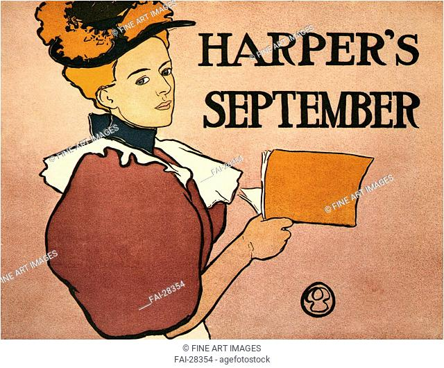 Harper's September by Penfield, Edward (1866-1925)/Colour lithograph/Art Nouveau/1896/The United States/Private Collection/Poster and Graphic...