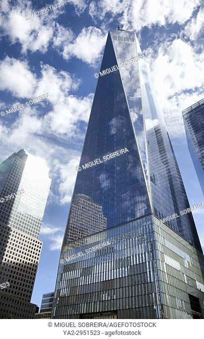 One World Trade Center on site of Twin Towers in New York - USA