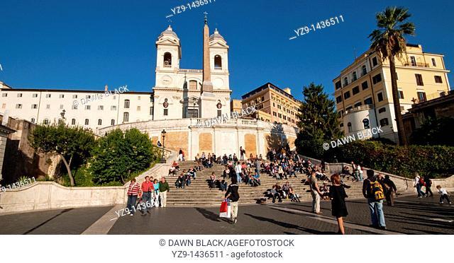 Spanish Steps and Trinita del Monti, Rome, Italy