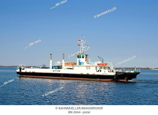 Island Rügen Ruegen Mecklenburg-Vorpommern Germany Rassower Strom ferry boat