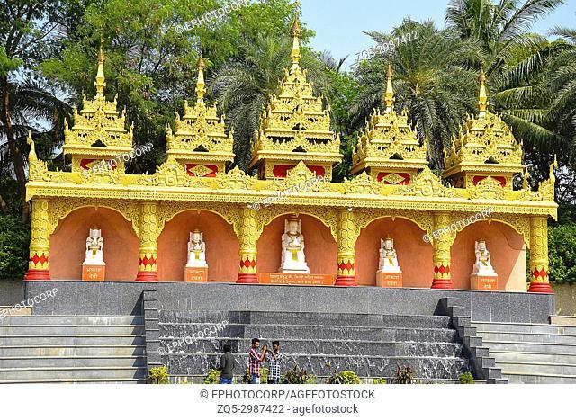 The Global Vipassana Pagoda. Meditation Hall near Gorai, North-west of Mumbai, India