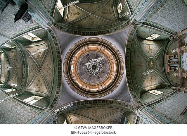 Cupola, Church del Senor de los Trabajos, Mineral de Possos, Province of Guanajuato, Mexico