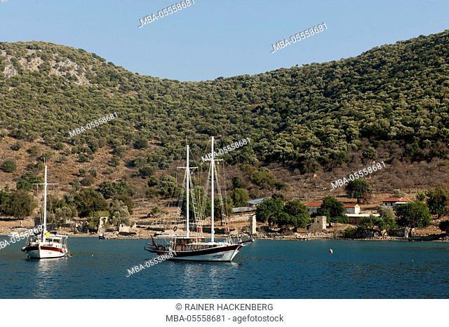 Turkey, province of Mugla, Göcek, island Tersane