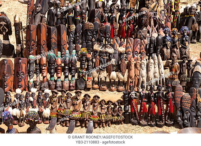 Local Handicrafts For Sale, The Thursday Market At Key Afar, Omo Valley, Ethiopia
