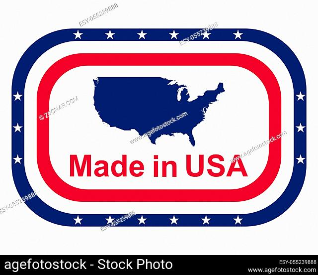 Qualitätssiegel Made in USA - Quality seal made in USA