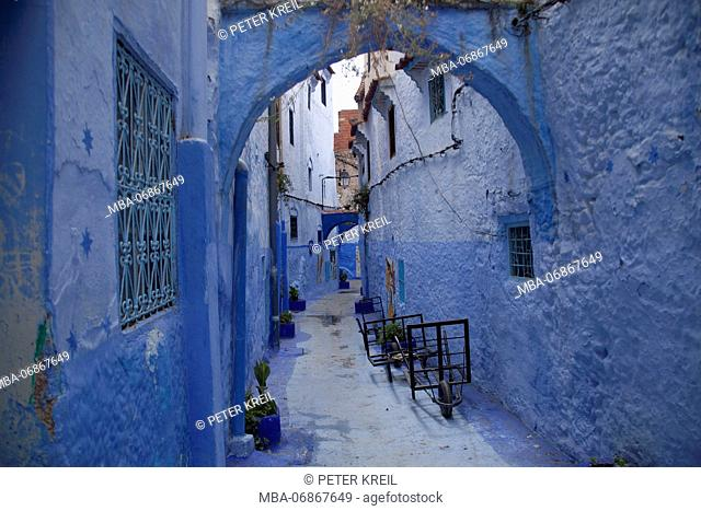 Morocco, Chefchaouen, Old Town, lane