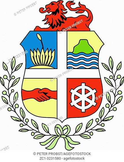 Coat of arms of the Caribbean island of Aruba