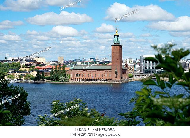 Sweden: Stockholm City Hall, seen from the south. Photo from 17. July 2017.   usage worldwide. - Stockholm/Stockholms län/Sweden