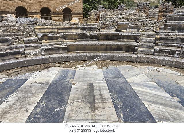 Ancient Odeon, Gortyn, Crete, Greece