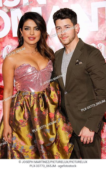 "Priyanka Chopra, Nick Jonas at Warner Bros. Pictures' """"Isn't It Romantic"""" Premiere held at The Ace Hotel in Los Angeles, CA, February 11, 2019"