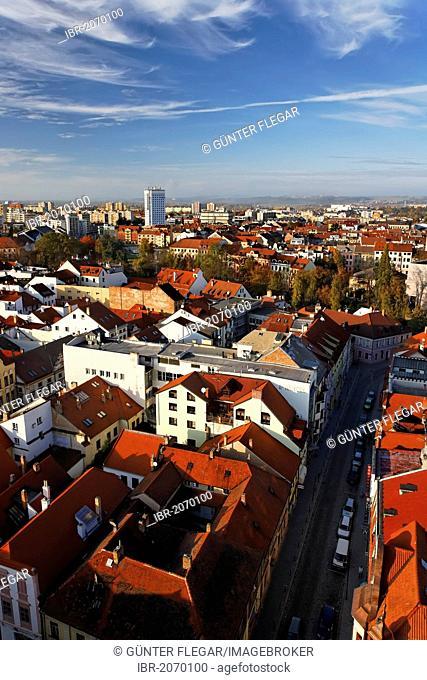 Cityscape of Ceske Budejovice, South Bohemia, Bohemia, Czech Republic, Europe