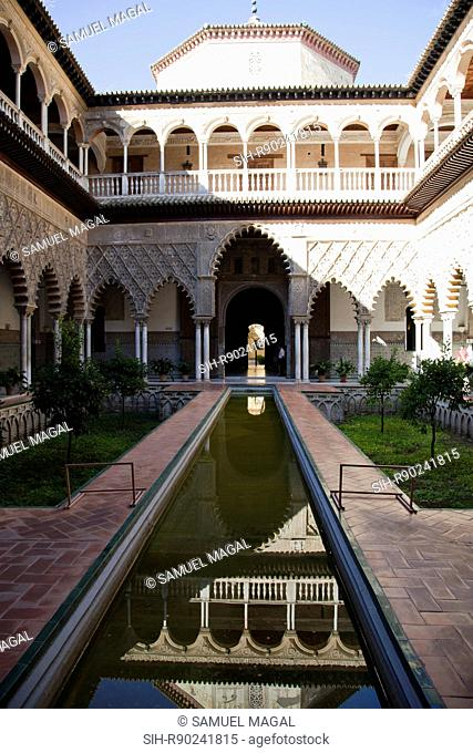 The Royal Fortresses Reales Alcazares of Seville are a fortified palatial complex, originally a Moorish fort from the 12th century