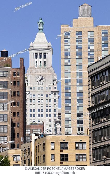 Skyscrapers, Astor Place, Greenwich Village, New York City, New York, USA, North America