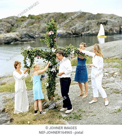 Midsummer celebration in the archipelago
