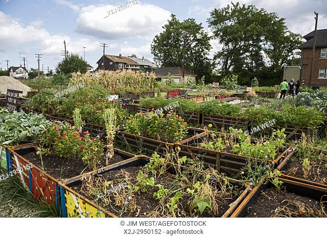 Detroit, Michigan - A community garden in a low-income neighborhood