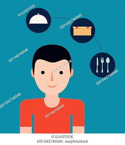 food delivery related icons image vector illustration design