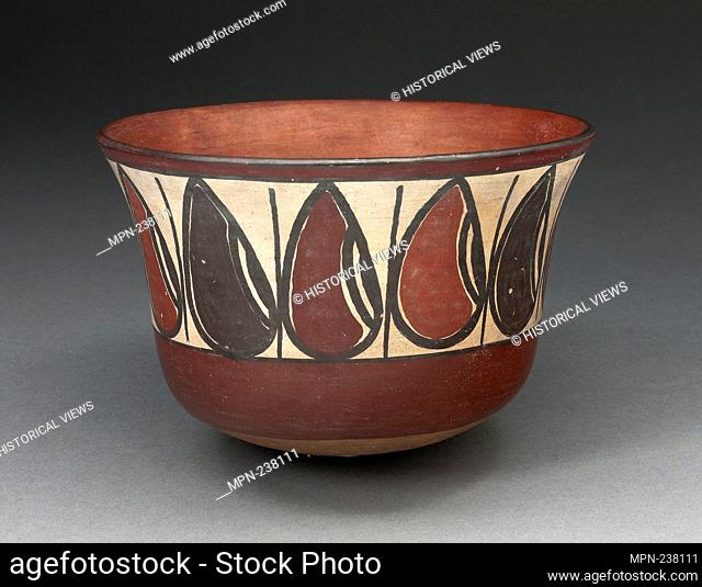 Bowl Depicting Band of Abstract Beans or Seeds - 180 B.C./A.D. 500 - Nazca South coast, Peru - Artist: Nazca, Origin: Peru, Date: 180 BC-500 AD