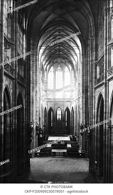 St Vitus Cathedral in Prague, Czechoslovakia, 1929. The church was solemnly consecrated on May 12, 1929. (CTK Photo)