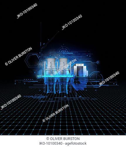 Blueprint design for electricity power station
