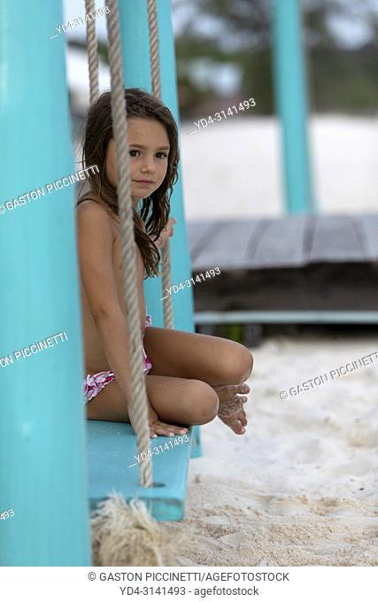 Girl on the swing, Sok San Beach, Koh Rong Island, Sihanoukville province, Kingdon of Cambodia