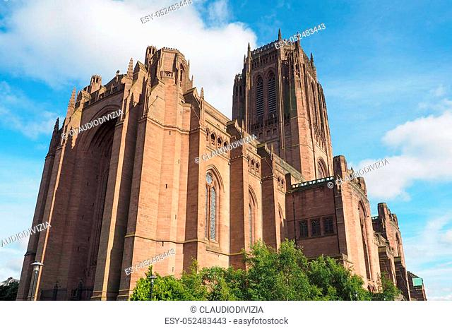 Liverpool Cathedral aka Cathedral Church of Christ or Cathedral Church of the Risen Christ on St James Mount in Liverpool, UK